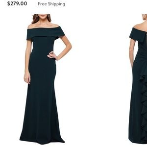 🥀Betsy & Adam Emerald Green Dress Size 12🥀